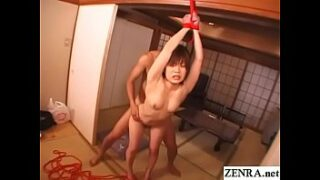 Japanese teen Nana Miyachi plays hooky from school to be bound for extremely kinky standing raw sex from behind